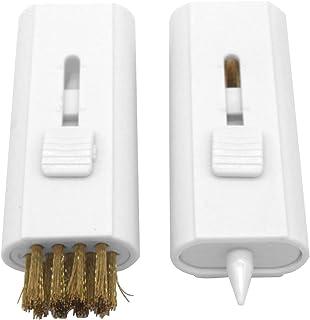 RICISUNG ゴルフ クラブ ブラシ クリーニングブラシ 2 イン 1 溝削り ゴルフメンテナンス用品 携帯可 2点セット ブラック