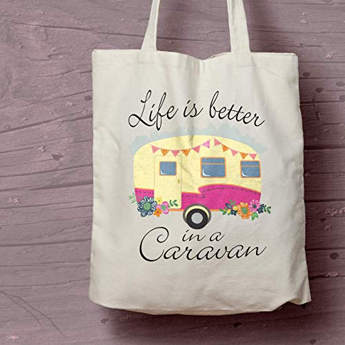 Life is Better in a Caravan Cotton Shopping Bag