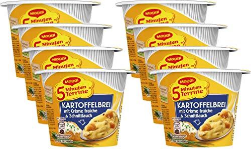 Maggi Kartoffelbrei mit Crème fraîche und Schnittlauch, 8er Pack (8 x 52 g)