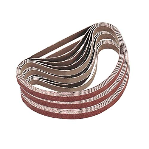 1-Inch x 42-Inch Sanding Belt, 15 Pcs Aluminum Oxide Sander Belts, 3 each of 60/80/120/180/240 Grits Sanding Belt for Belt Sander