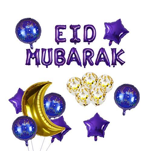 AIHOME Eid Mubarak Decoration, Ramadan Kareem Decoration, Banner Garland Eid Mubarak For Muslim Ramadan, As Decoration, For Eid Celebration A