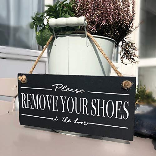 Preisvergleich Produktbild Signs Please remove your shoes,  Take off your shoes schiefer