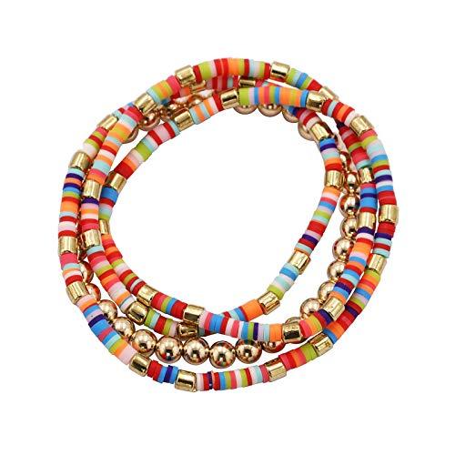 guodong European and American Retro Style Accessories Hand Ring Handmade Beaded Wrist Jewelry Rice Bead Multi-Layer Bracelet