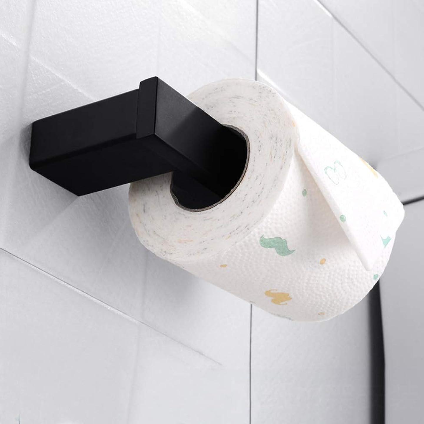 名門まだ安定しましたバス用品 パンチフリーモダンミニマリストブラックペイントペーパータオルホルダートイレットペーパーホルダーラックサイズ175mm * 70mm * 37mm 浴室用