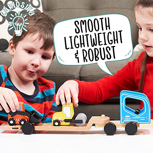 Jaques of London Wooden Toy Cars | Quality Toddler Toy Cars for Boys and Girls | Construction Car Toys for 2 3 4 Year Olds (Low Loader Truck)