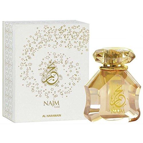 Najm oro aceite de perfume por al Haramain exclusivo/Attar con naranja vainilla 18ml
