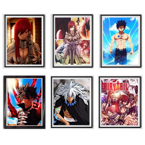 Décoration murale sans cadre DBZ, Demon Slayer, Naruto, Bleach, Fairy Tail, Tokyo Ghoul, Hunter X Hunter, 20,3 x 25,4 cm
