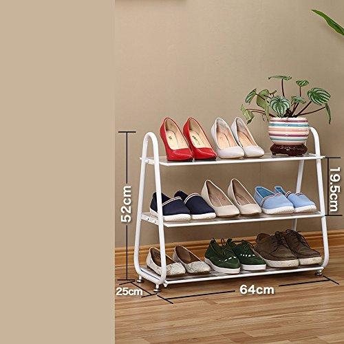 Fer à Repasser Dormitory Footwear Porte Multi-étages Simple Storage Slippers Rack (Couleur : Bronze)