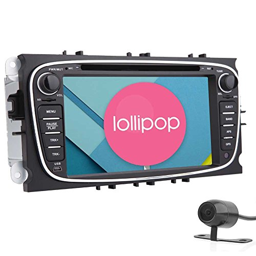 EinCar 7'' Android 5.1 Car DVD Player with Capacitive Touch Screen Double DIN Headunit GPS Car Stereo Navigation In Dash Bluetooth Auto Radio Audio Receiver Support Steering Wheel/WiFi/1080P