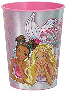 """Barbie Mermaid"" Iridescent Pink Party Favor Cup 16 Oz."