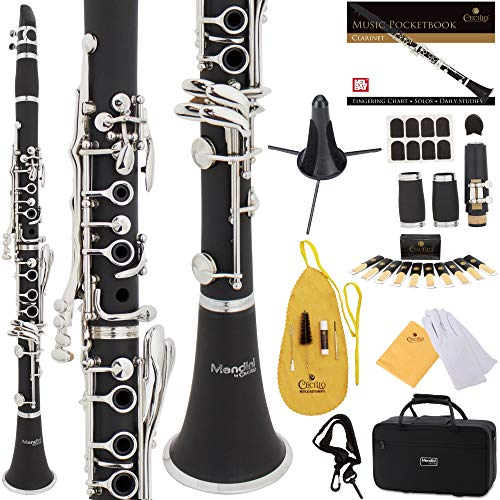 Mendini by Cecilio B Flat Beginner Student Clarinet with 2
