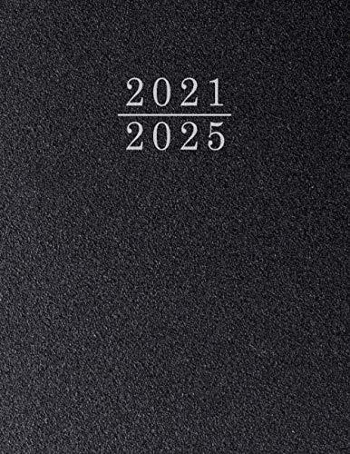 Monatsplaner 2021 2025 für Tagesplanung - Terminkalender A4 | Das Buch hat 1 Monat = 2 Seite als Tagesplaner | Perfekter Kalender Planer 2021 2025 | Tageskalender & Terminplaner (Schwarz)