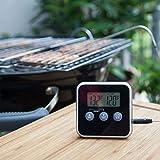 lamta1k Termómetro de cocina, pantalla digital, termómetro de sonda de cocina con temporizador de alarma