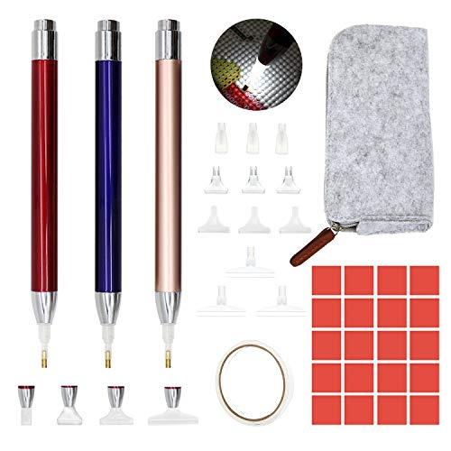 Abodhu Diamond Painting Pen with Light Diamond Art Pen LED Diamond Painting Pens 5D Light Up Pens for Diamond Painting Arts Nails DIY Crafts, Diamond Art Accessories Tools for Diamond Painting