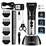 Domipet Dog Grooming Clippers Cordless Low Noise Dog Clipper Professional Quiet 360°Rechargeable Shaving