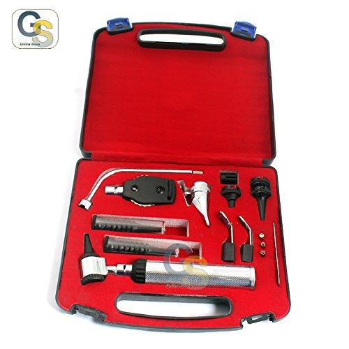 G.S New Premium Grade ENT Diagnostic Set Veterinary ENT Student Set + 4 Free Replacement Bulbs Best Quality