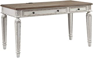 Ashley Furniture Signature Design - Realyn Home Office Desk - White/Brown