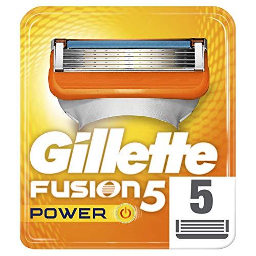 Gillette Fusion5 Power Maquinilla Afeitar, 5 Recambios