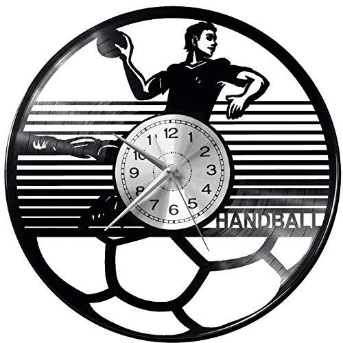 WoD Handball Handball Wanduhr Vinyl Schallplatte Retro-Uhr groß Uhren Style Raum Home Dekorationen Tolles Geschenk Uhr