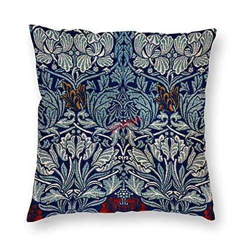 VinMea Funda de almohada decorativa de tela tejida tulipán y rosa para sofá, dormitorio, decoración de la oficina, 45 x 45 cm