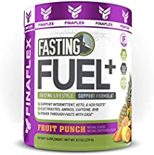 Fasting Fuel Plus Powder Support Intermittent, Keto, and Water Fasting, Electrolytes, Aminos, Caffeine, BHB, Power Through Fasts with Ease … (30 Servings, Fruit Punch)
