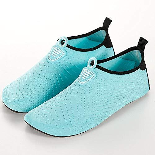 Mannelijke en vrouwelijke volwassen strandschoenen zachte bodem outdoor snorkelen loopband schoenen 9.5-10.5 Lichtblauw