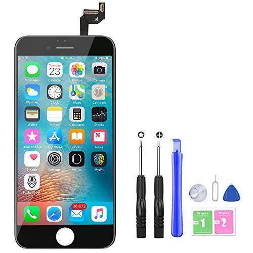 YoSuDa Für iPhone 6s Display ersatzbildschirm(4.7''), Ersatz Für LCD Touchscreen Display Reparaturset mit Werkzeuge (Schwarz)