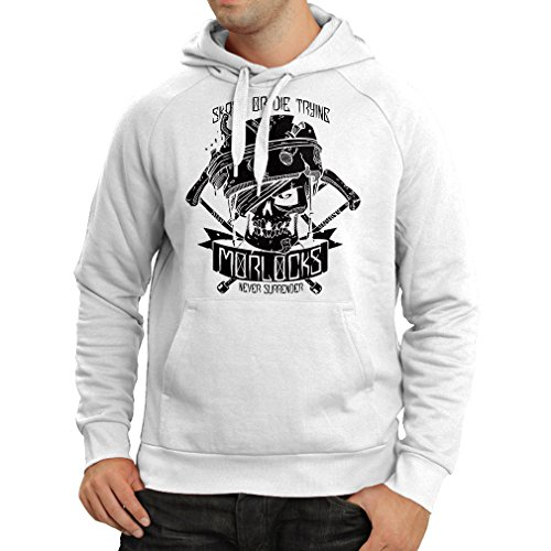 lepni.me N4605H Sweatshirt à Capuche Manches Longues Skate Or Die Trying (Small Blanc Multicolore)