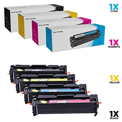 WENMW- Cartuchos de tóner compatibles para HP 202A HP CF500A para HP Laserjet Pro M281fdw M254dw M254dn M254nw M281dw MFP M281fdn M281cdw M281 M254-4Pack, Color 4P.