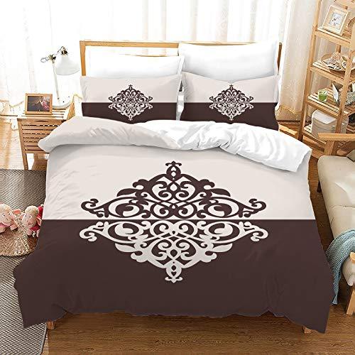 QIAOJIN Ropa de cama de estilo europeo, diseño retro, digital, jacquard de otoño e invierno, para dormitorio, estudiante, habitación infantil (260 x 220)