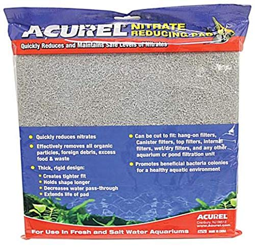 Acurel LLC Nitrate Reducing Media Pad Aquarium and Pond Filter Accessory, 10-Inch by 18-Inch