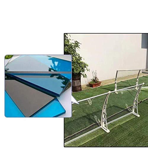 CHHD Toldo para Puerta Toldo para Lluvia Toldo para Lluvia Terraza a Prueba de Lluvia/ventanal/Aire Acondicionado Toldo para toldo Aleación de Aluminio silenciosa Material de PC (Co