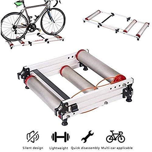 Woodtree Formación Cubierta Resistencia estación Ejercicio Plegable Bicicletas Trainer retráctil Cubierta de...
