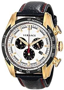 Versace Men's VDB040014 V-Ray Analog Display Quartz Black Watch image