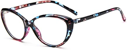 b133658152a Rongchy Fashion Nearsighted Cat Eye -1.25 Myopia Glasses Womens Floral Frame  Cateye Style Distance Spectacles