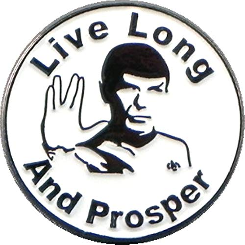Metal Enamel Pin Badge Star Trek Enterprise Vulcan Spock Salute Live Long And Prosper by Mainly Metal