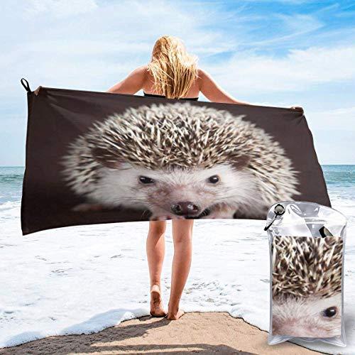 Toalla de baño, bonito erizo, multifuncional de secado rápido, fibra superfina, superabsorbente, viajes, natación, (80 cm x 130 cm)