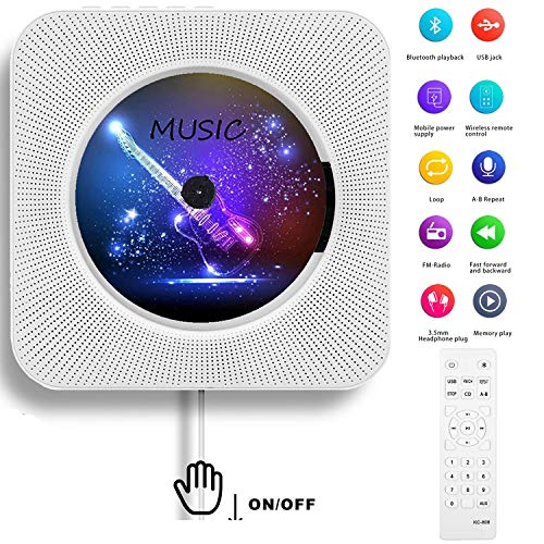 in budget affordable AONCO portable CD player, wall-mounted Bluetooth music CD player, remote control home audio radio cassette player