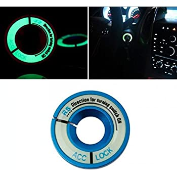 INION/® SCHWARZ//BLACK Leuchtend Z/ündschloss ABDECKUNG Ring Dekorative Aufkleber Ring Schl/üsselloch Schutz Ring Start Schalterknopf Alu Rahmen FLUORESZIEREND leuchtet im Dunkeln sarachen