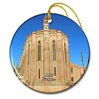 フランスサントセシル大聖堂アルビクリスマスオーナメントセラミックシート旅行お土産ギフト