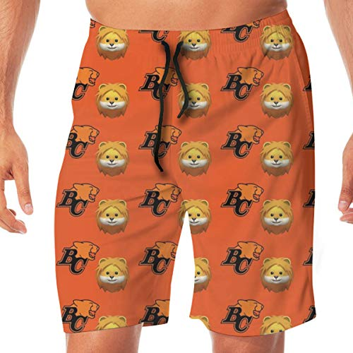 atopking BC Lions Football CFL Cats Kanada_6140 3D-Bedruckte Badehose für Herren Quick Dry Summer Beach Sports Running Shorts