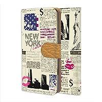 FFANY OPPO A5 2020 用 PU手帳型 カードタイプ スマホケース 自由の女神・ニューヨーク 新聞デザイン 包装紙 ラッピング風 オッポ エーファイブ SIMフリー スマホカバー 携帯ケース スタンド newspaper aam_210133c