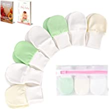 BabyBliss Anti-Scratch Baby Mittens (3-6 Months) - 7-Pair Set of Cute & Soft Mittens for Boys & Girls - Unisex Infant Mittens - with Laundry Bag & Baby Weaning E-Books…