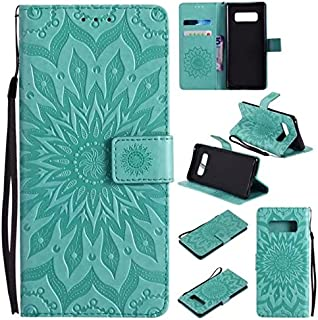 Protective Case Compatible with Samsung Sun Flower Printing Design PU Leather Flip Wallet Lanyard Protective Case with Card Slot/Stand Compatible Samsung Galaxy Note 8 Phone case (Color : Green)