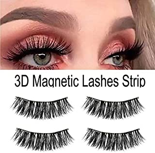 9997644395a LUCILAS Eyelashes Magnetic Lashes Natural Full Eye 0,2x0,4 inch Synthetic 2  Pairs
