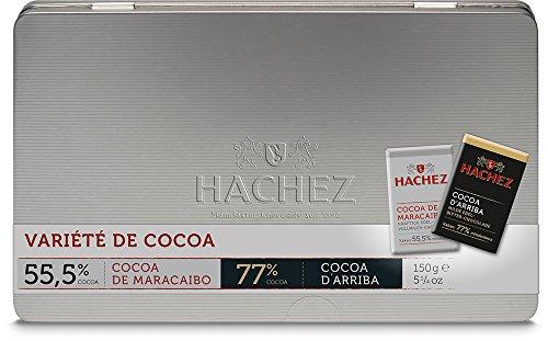 Hachez Variété de Cocoa Täfelchen in Metalldose, Cocoa d'Arriba / Cocoa de Maracaibo (1 x 150 g)