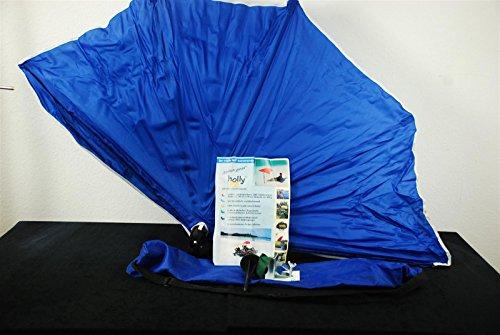 Holly mobiler teleskopierbarer 360° Fächerschirm 140 x 70cm (Blau)