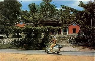 The Snake Temple Penang, Malaysia Original Vintage Postcard