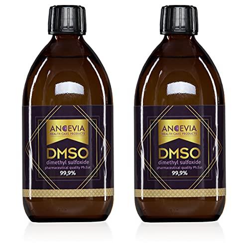ANCEVIA® DMSO 1000ml - 2x 500ml- 99,9% Reinheit Ph. Eur. - Dimethylsulfoxid - pharmazeutische Reinheit - in Braunglasflasche