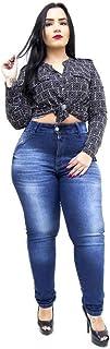 Calça Jeans Feminina Latitude Plus Size Skinny Suany Azul